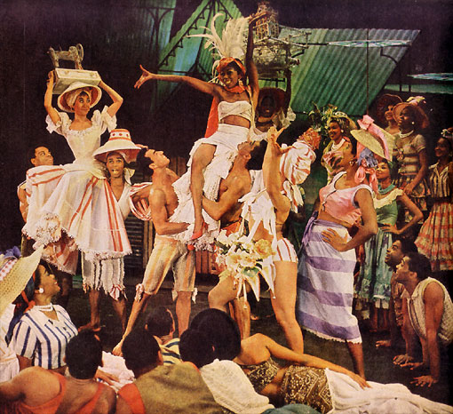Scene from the Broadway muiscal 'Jamaica'